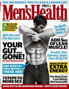 mens health cover model