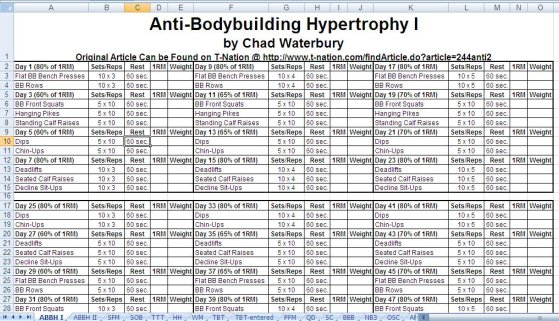 Bodybuilding Workout Schedule Pdf With Pictures Viewyoga