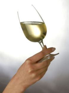 calories in white wine